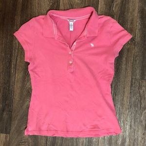 🎃2 FOR 22 - Pink Abercomrbie Polo